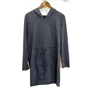 Paisley Sky Navy Blue Hooded Sweater Dress Large
